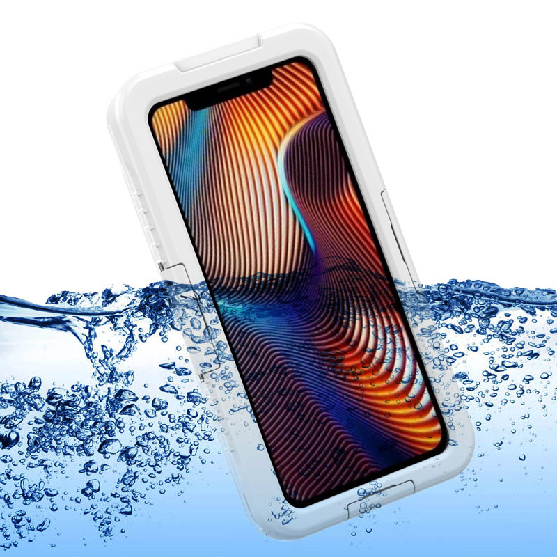 Best Waterproof Dust Resistance Snow iPhone xr box (White)